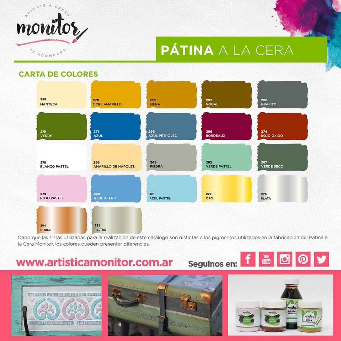 Carta de colores para Pátina a la cera