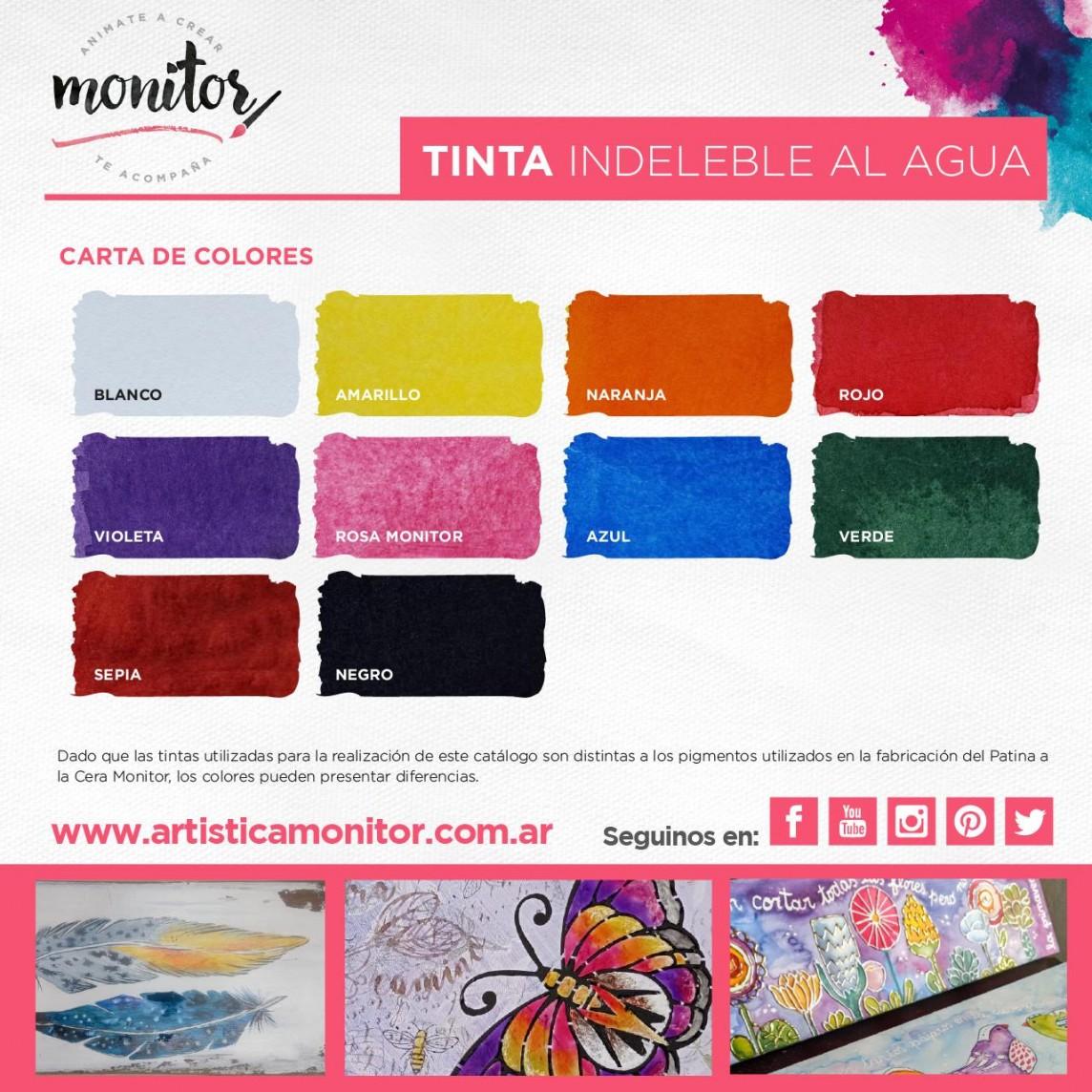 Carta de colores para Tintas Indelebles al Agua