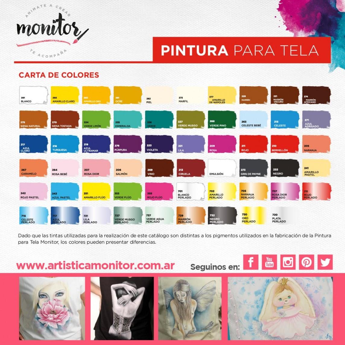 Carta de colores para Pintura para Tela